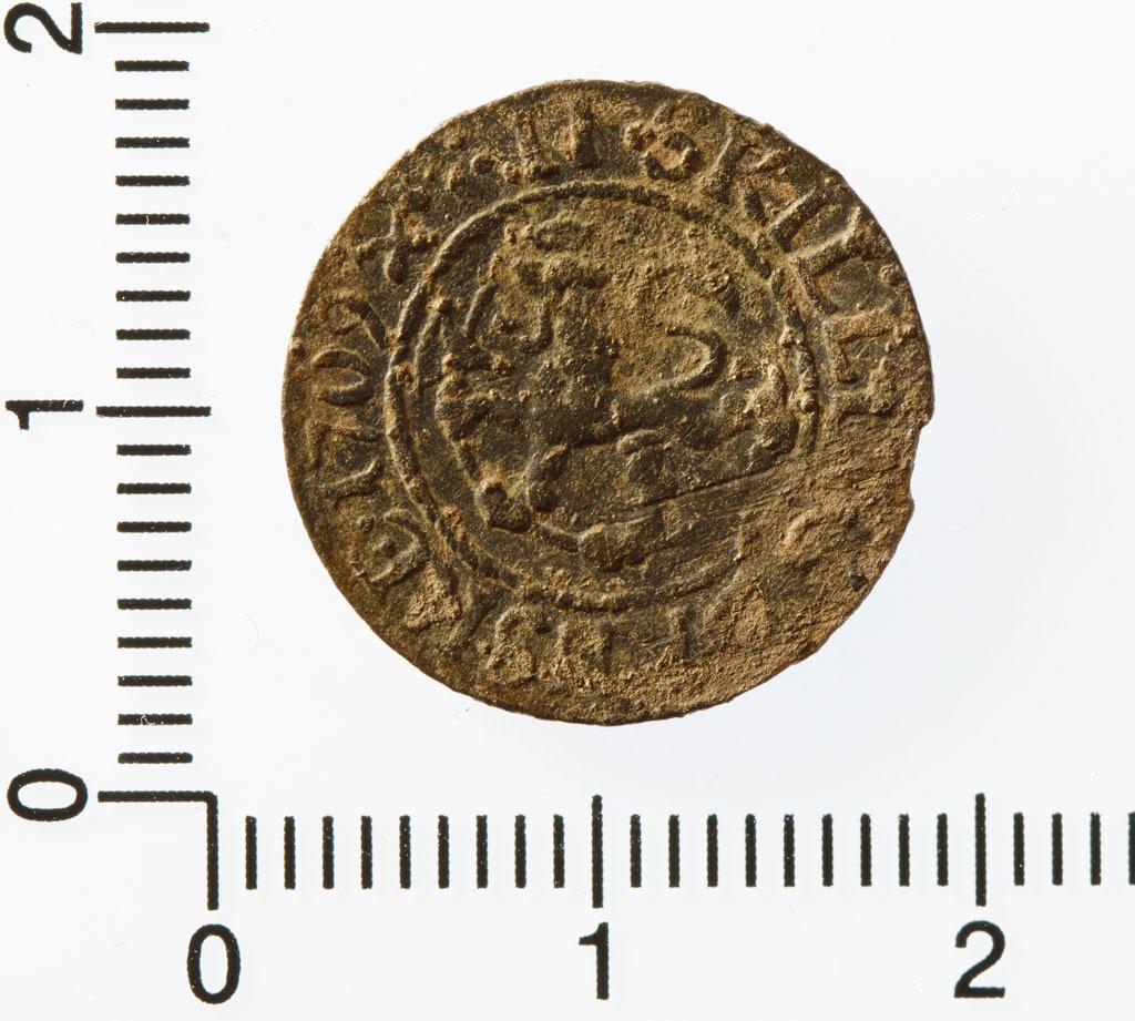 2 skilling 1709 med den norske løve