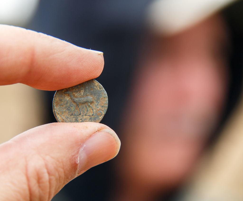 Dave og hans romerske æsel-mønt