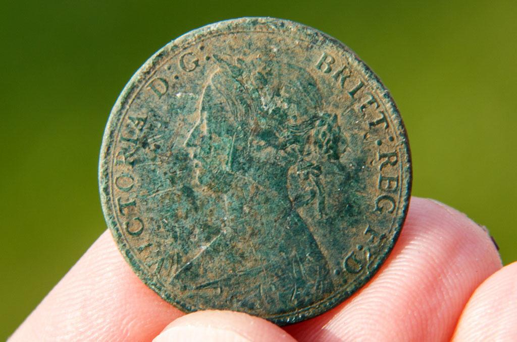 Victoria half penny 1861